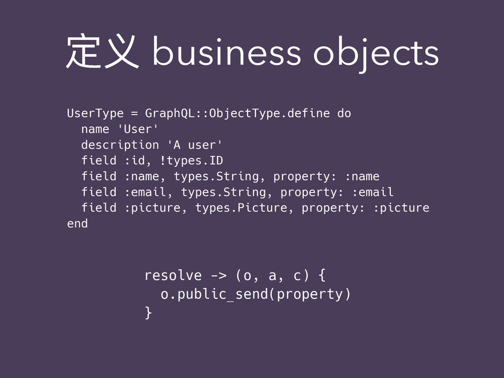 ਧԎ business objects UserType = GraphQL::ObjectT...