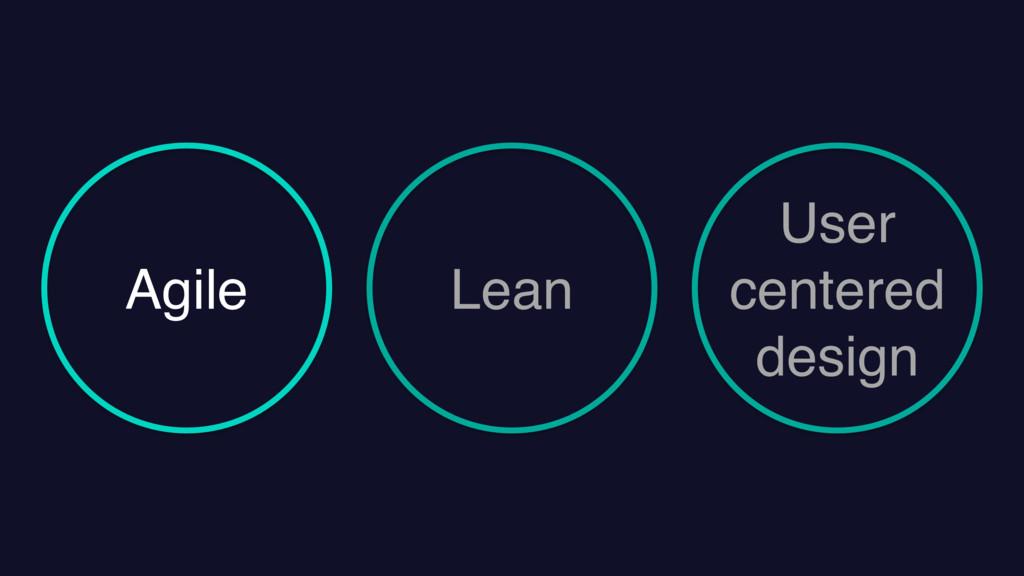 Agile Lean User centered design