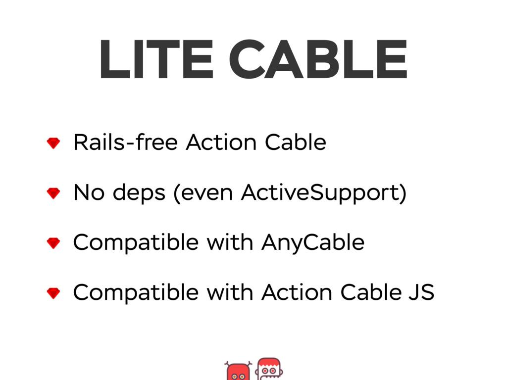 Rails-free Action Cable No deps (even ActiveSup...