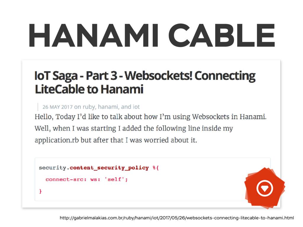 HANAMI CABLE http://gabrielmalakias.com.br/ruby...