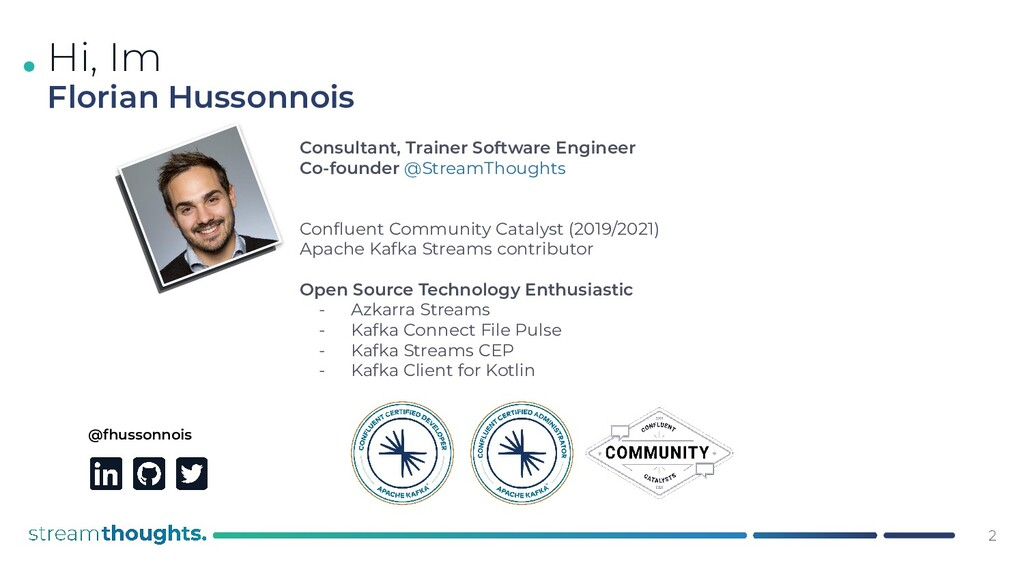. @fhussonnois Consultant, Trainer Software Eng...