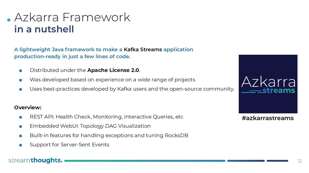 . A lightweight Java framework to make a Kafka ...