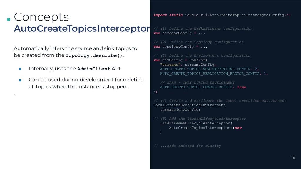 . . . 19 AutoCreateTopicsInterceptor Concepts i...