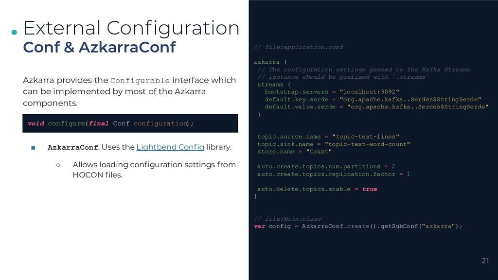 . . . 21 Conf & AzkarraConf External Configurati...