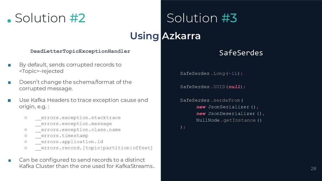 . . . 28 Solution #2 Using Azkarra Solution #3 ...