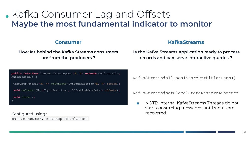 . 31 Kafka Consumer Lag and Offsets Maybe the m...