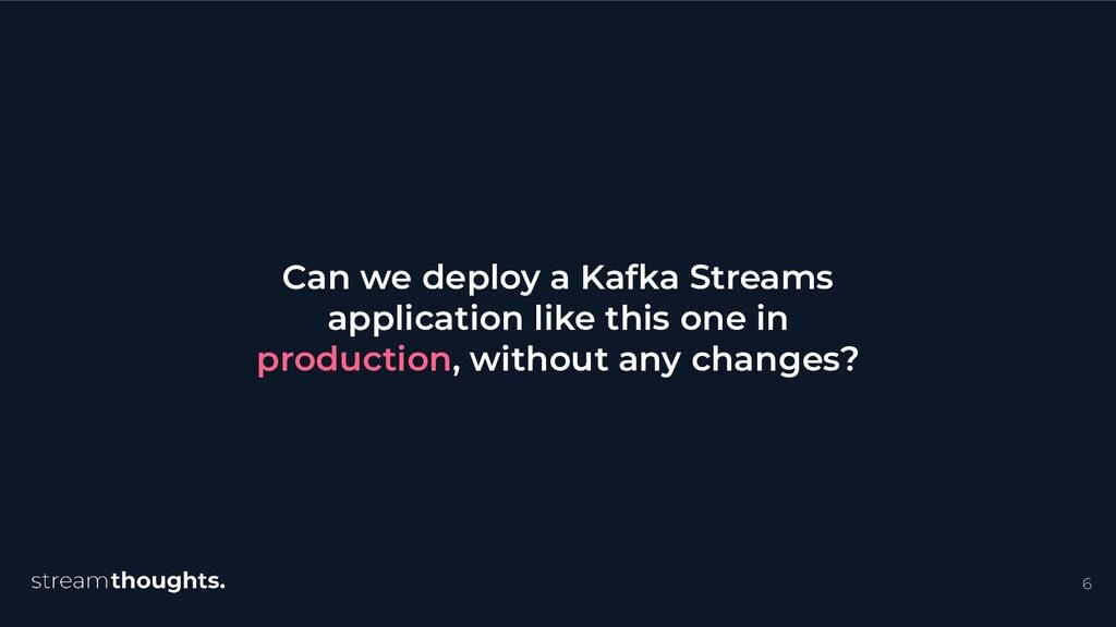 6 Can we deploy a Kafka Streams application lik...