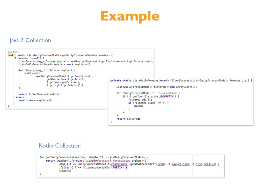 Example Kotlin Collection Java 7 Collection