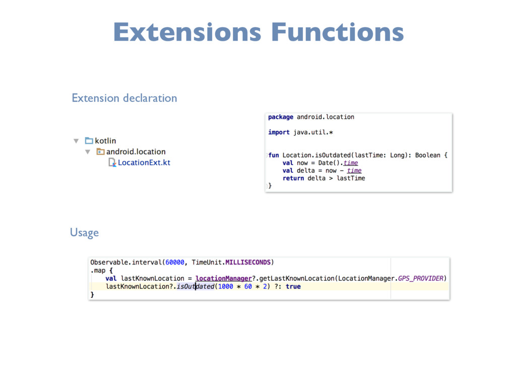 Extensions Functions Extension declaration Usage