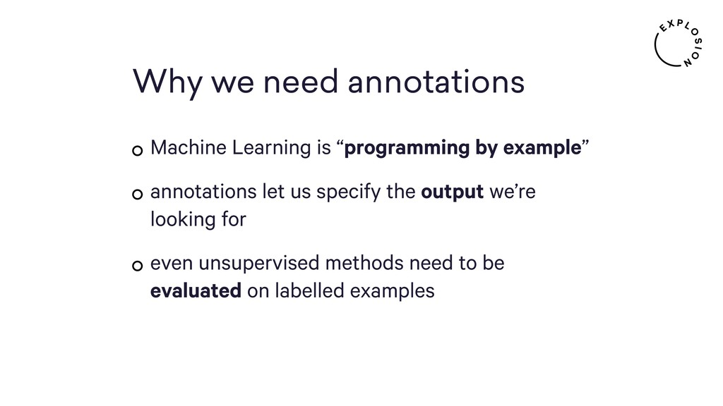 """Why we need annotations Machine Learning is """"pr..."""