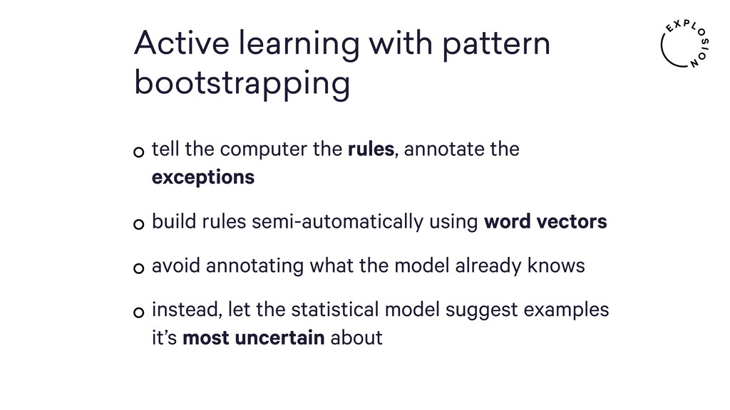 Active learning with pattern bootstrapping tell...