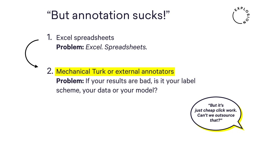 """""""But annotation sucks!"""" 1. Excel spreadsheets ..."""