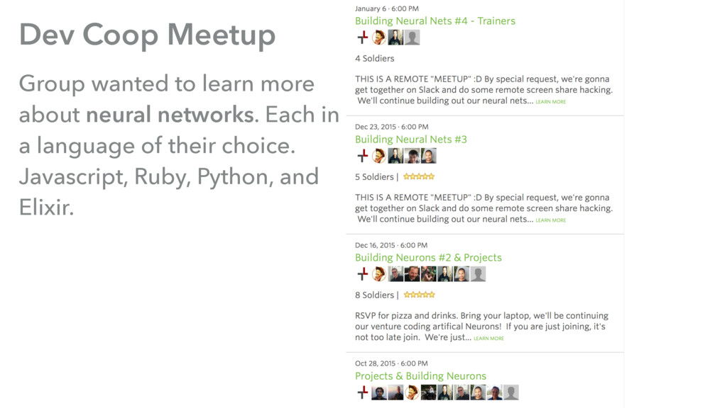 Dev Coop Meetup Group wanted to learn more abou...