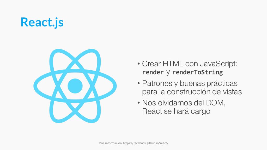 React.js • Crear HTML con JavaScript: render y ...