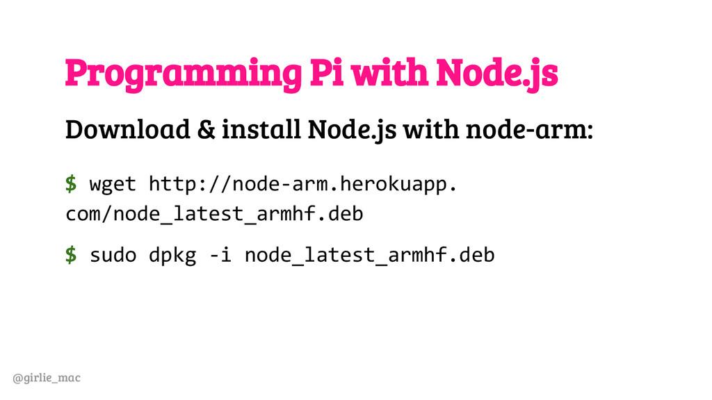 @girlie_mac Programming Pi with Node.js Downloa...