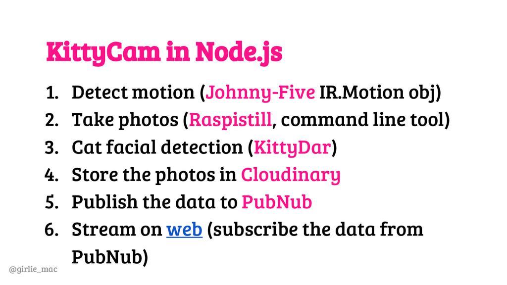 @girlie_mac KittyCam in Node.js 1. Detect motio...