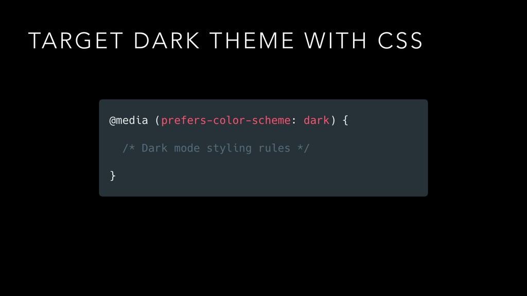 TARGET DARK THEME WITH CSS