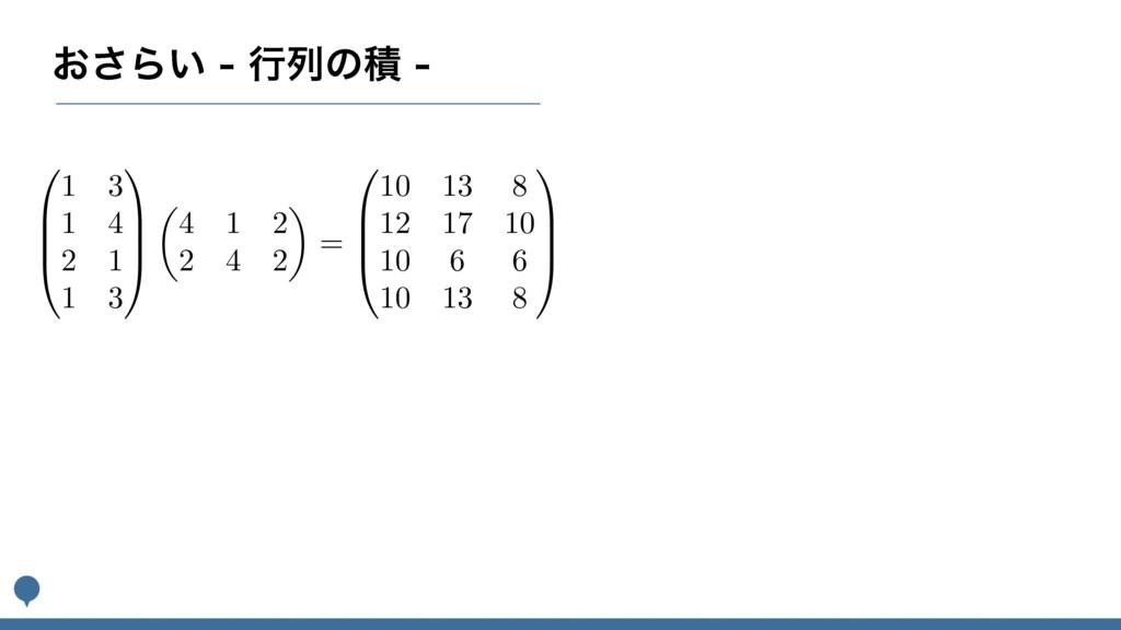 ͓͞Β͍ߦྻͷੵ 0 B B @ 1 3 1 4 2 1 1 3 1 C C A ✓...