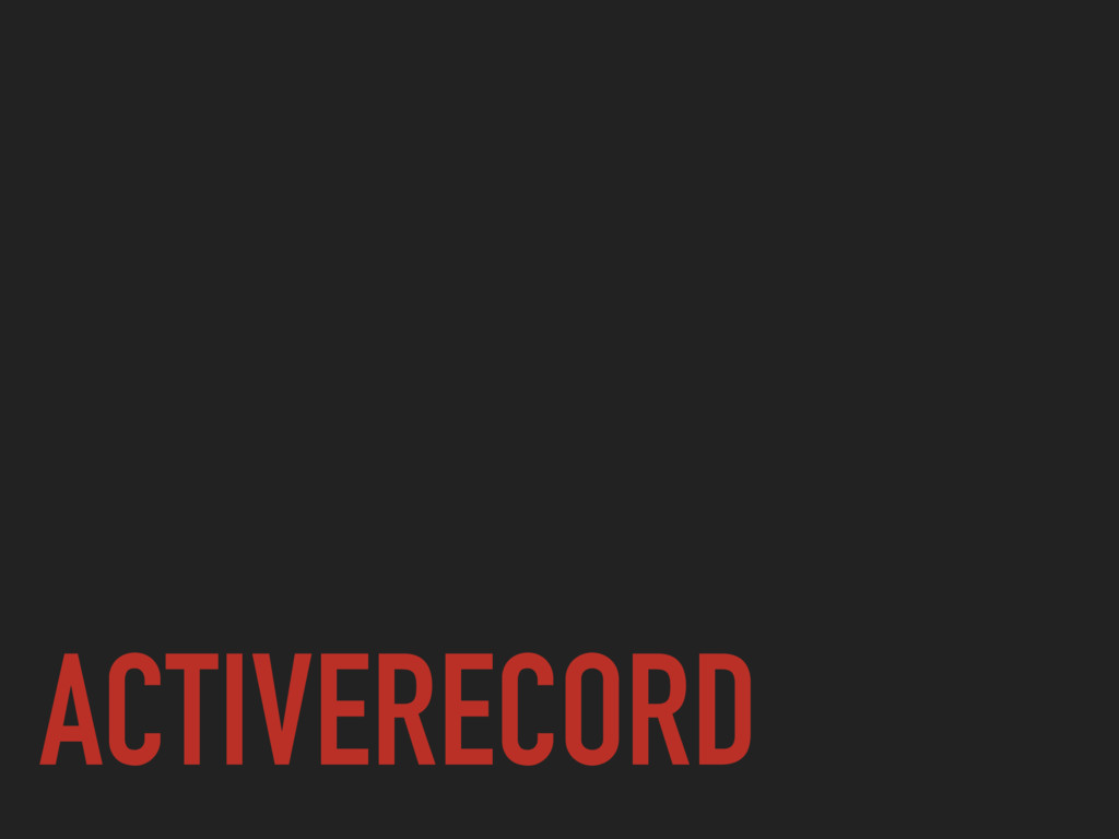 ACTIVERECORD