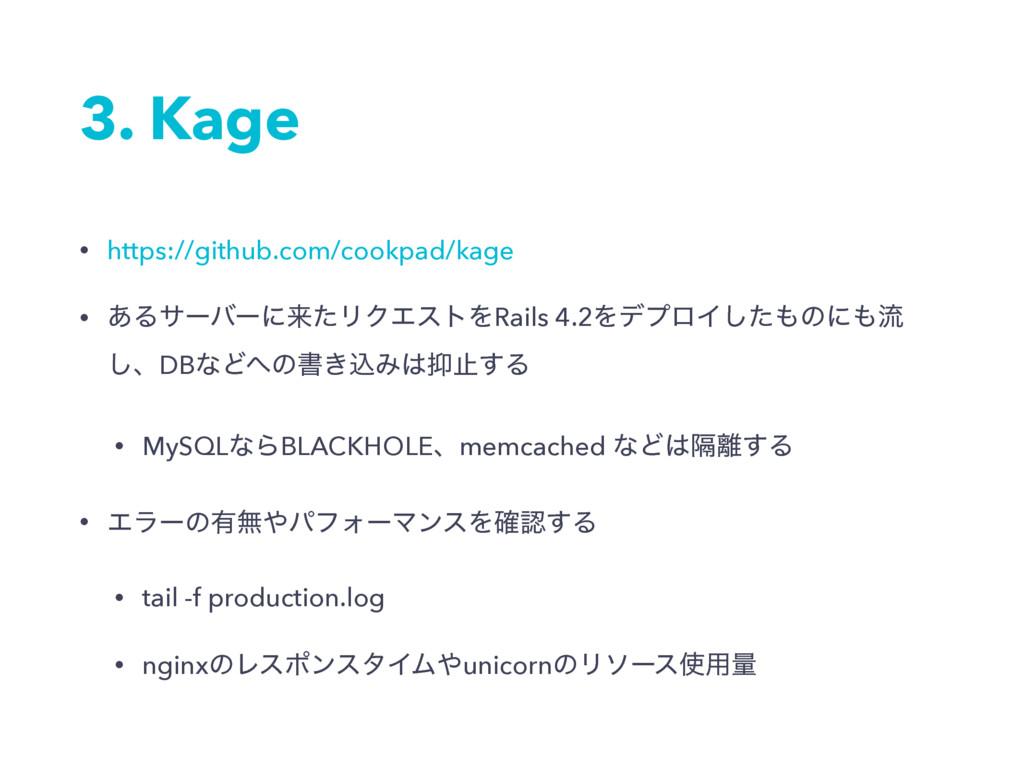3. Kage • https://github.com/cookpad/kage • ͋Δα...
