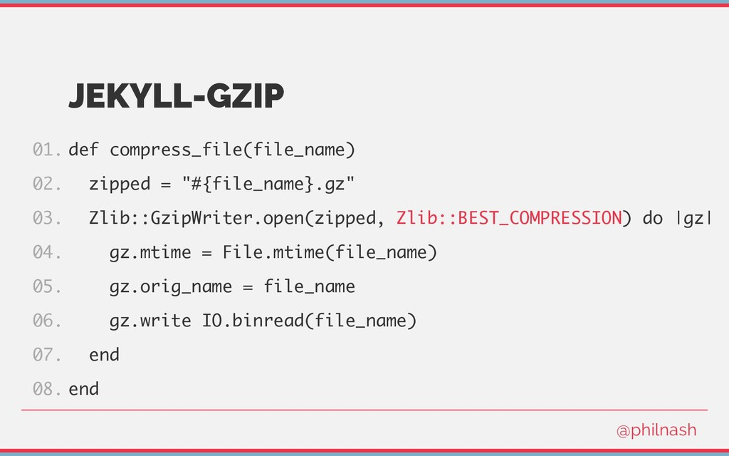 JEKYLL-GZIP def compress_file(file_name) zipped...