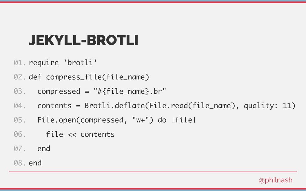 JEKYLL-BROTLI require 'brotli' def compress_fil...