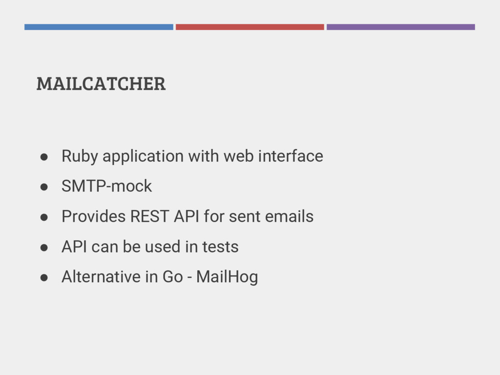 MAILCATCHER ● Ruby application with web interfa...