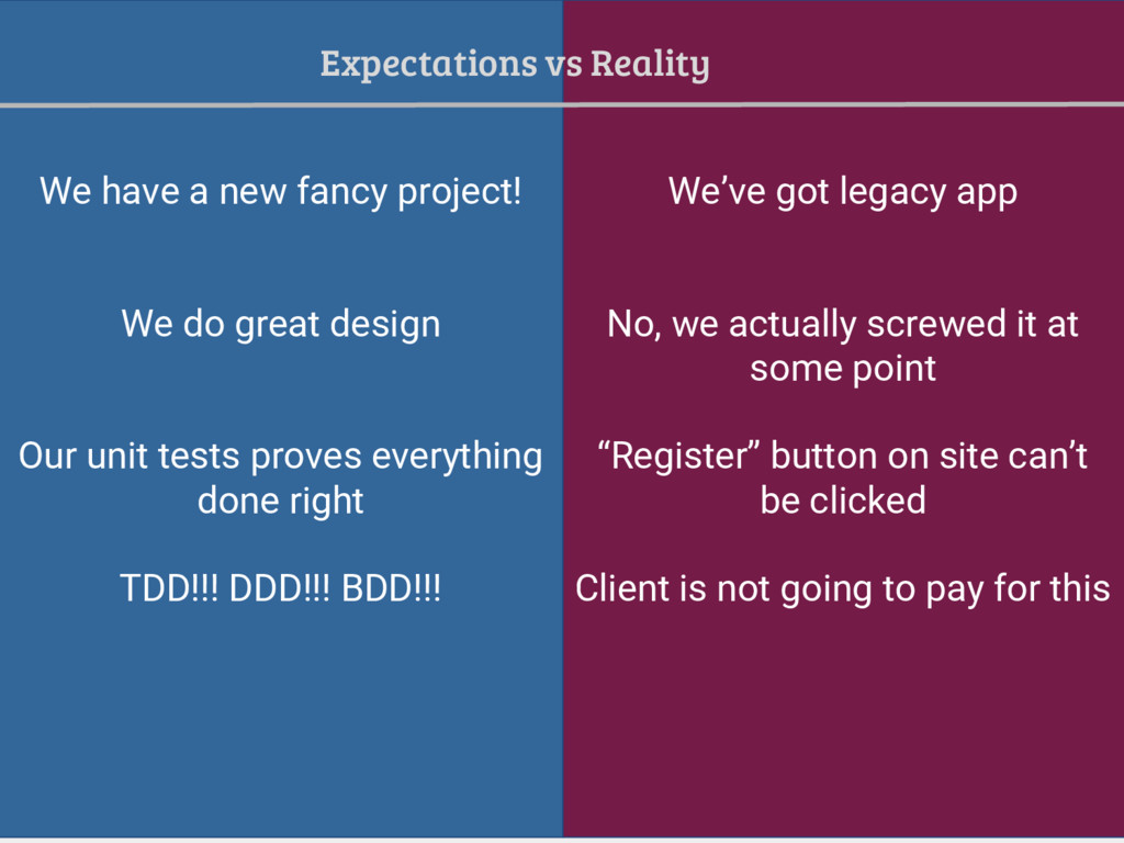 We have a new fancy project! We've got legacy a...