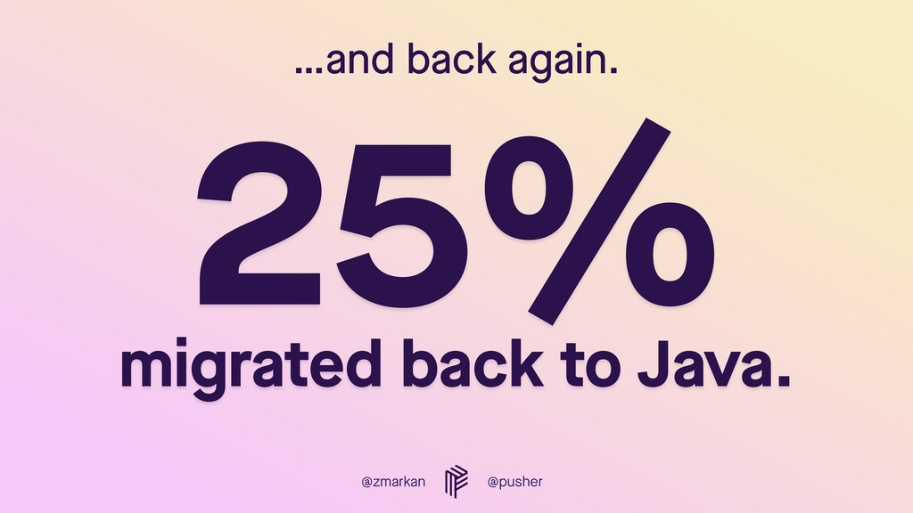 @zmarkan @pusher …and back again. 25% 