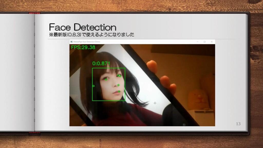 Face Detection ※最新版(0.8.3)で使えるようになりました 13