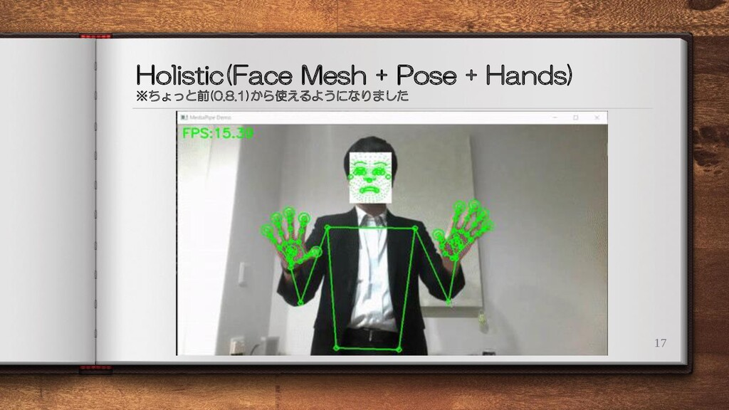Holistic(Face Mesh + Pose + Hands) ※ちょっと前(0.8.1...