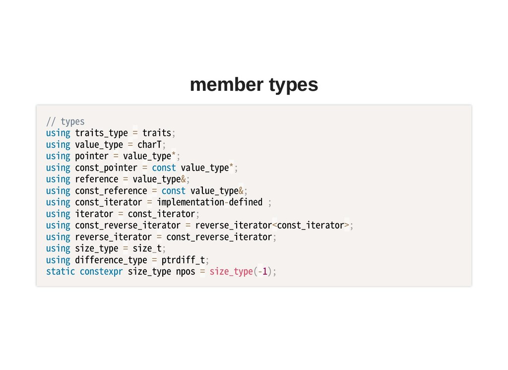 member types member types //types usingtrait...
