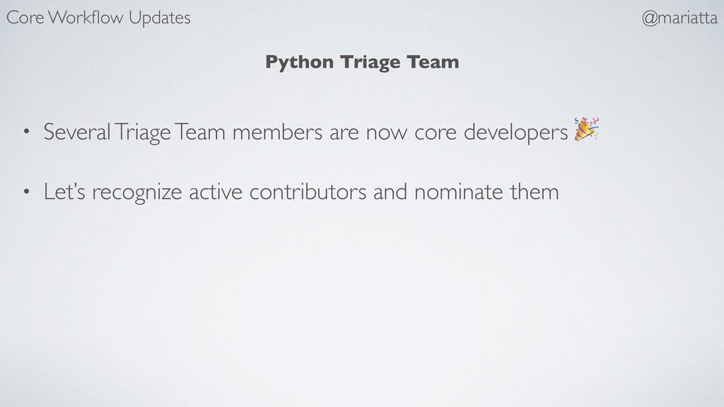 Python Triage Team • Several Triage Team member...