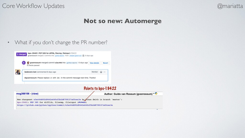Not so new: Automerge • What if you don't chang...