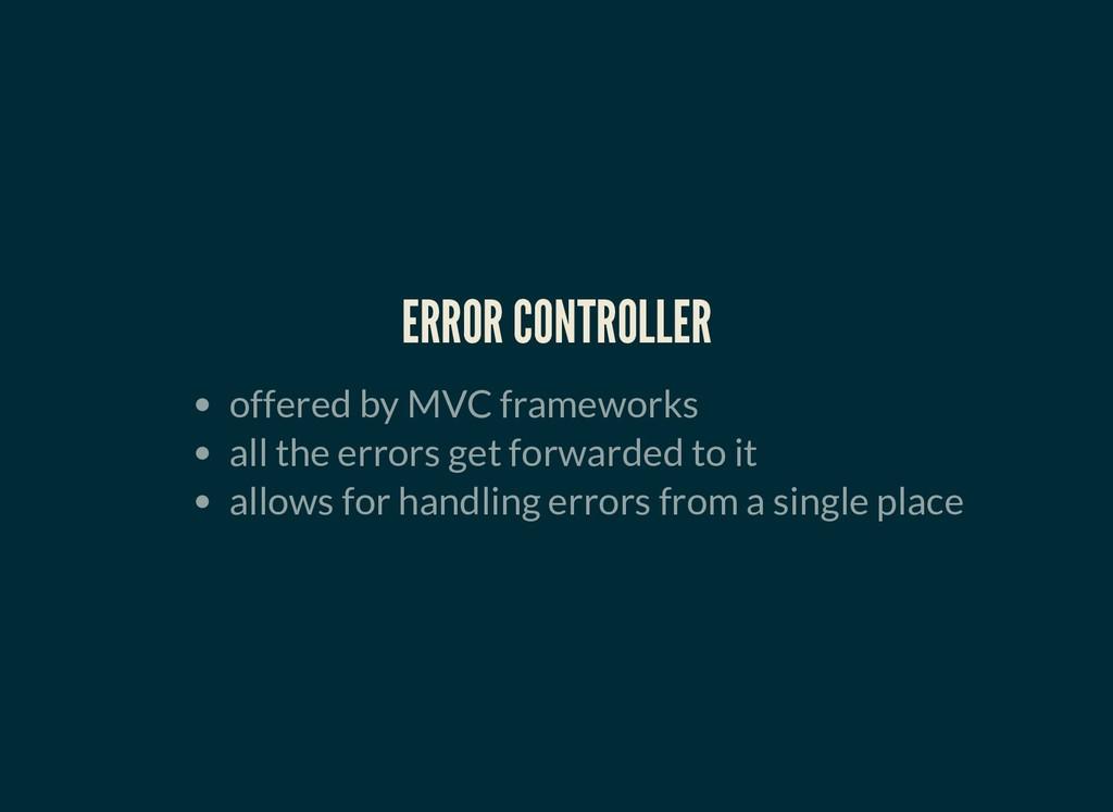 ERROR CONTROLLER ERROR CONTROLLER offered by MV...