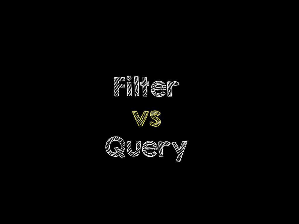 Filter vs Query