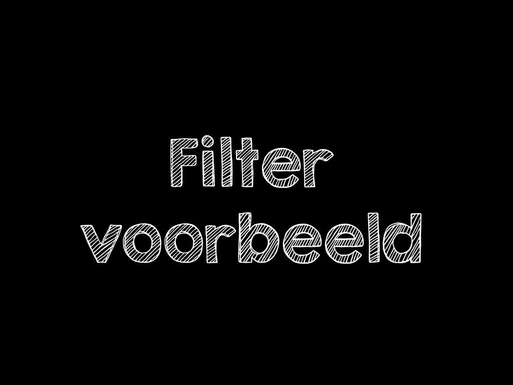 Filter voorbeeld