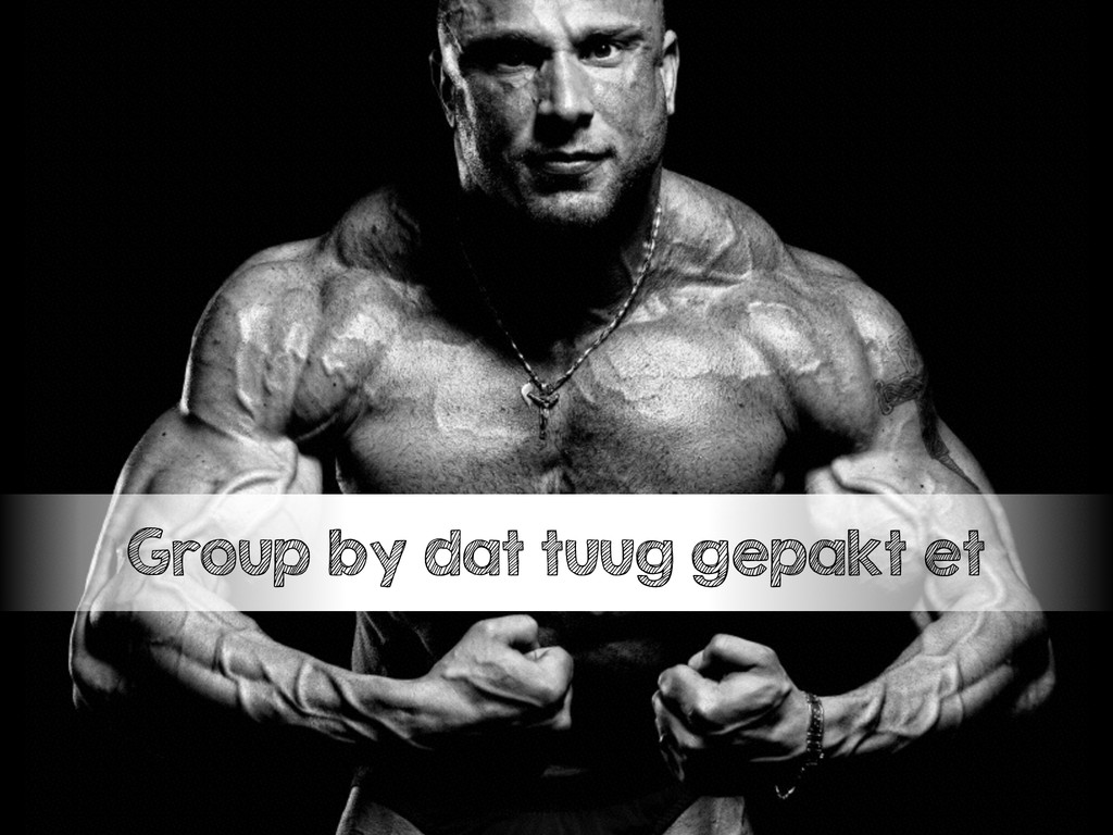 Group by dat tuug gepakt et