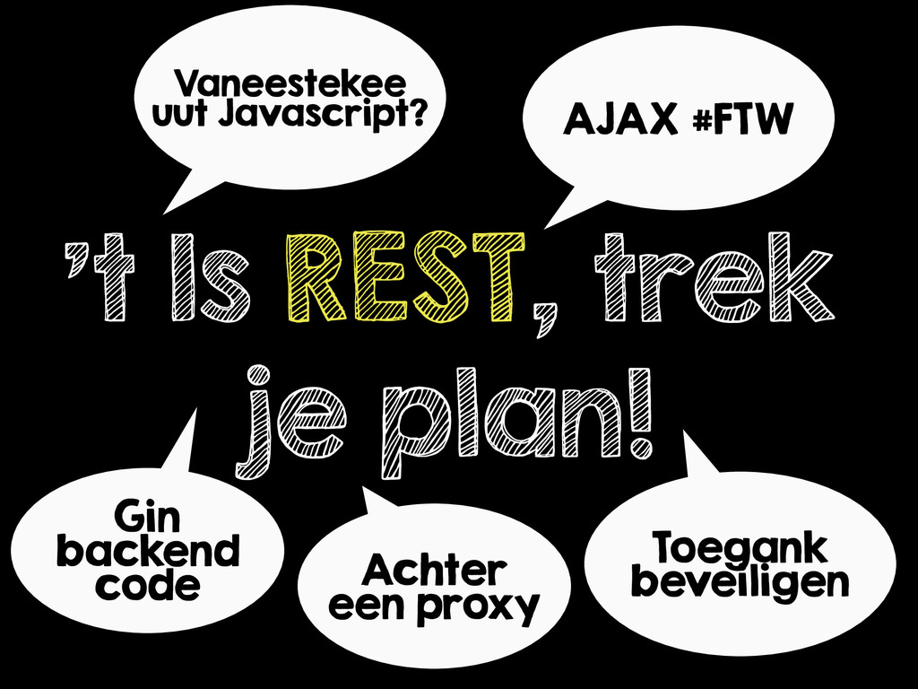 't Is REST, trek je plan! Vaneestekee uut Javas...