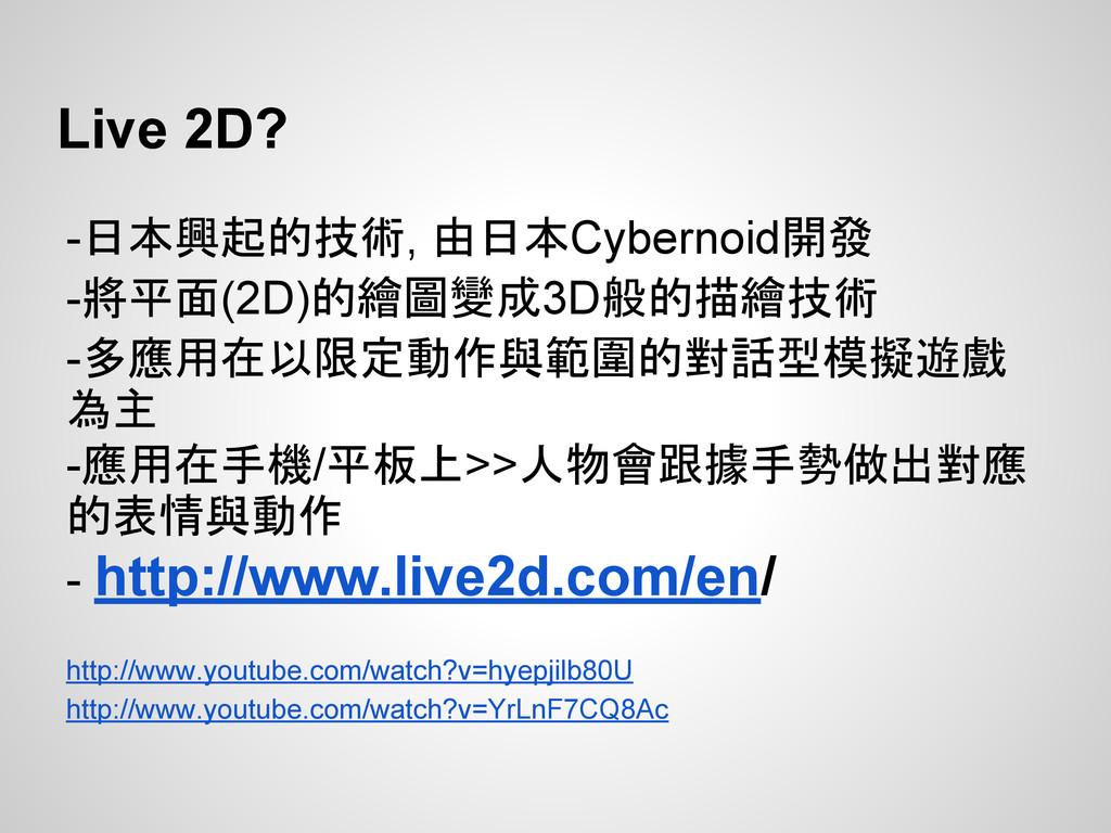-日本興起的技術, 由日本Cybernoid開發 -將平面(2D)的繪圖變成3D般的描繪技術 ...