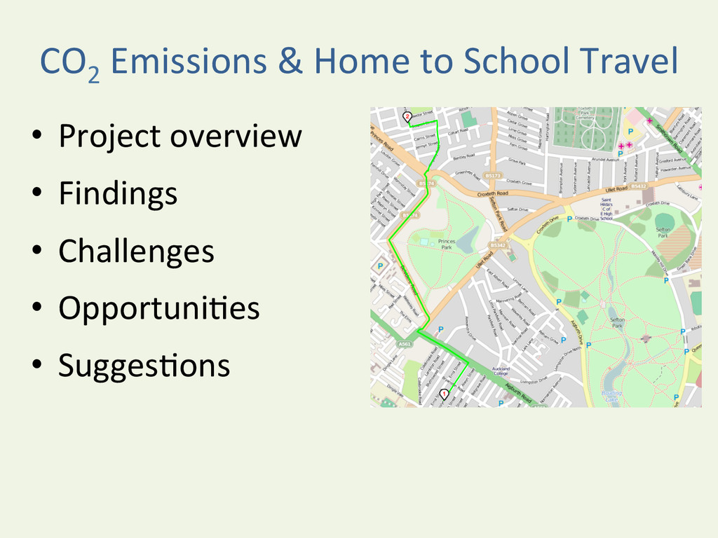 CO2  Emissions & Home to School...