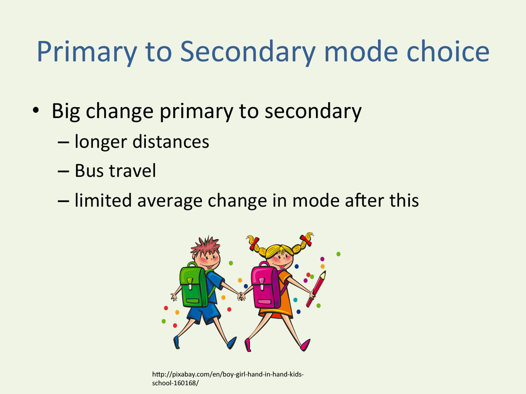 Primary to Secondary mode choice ...