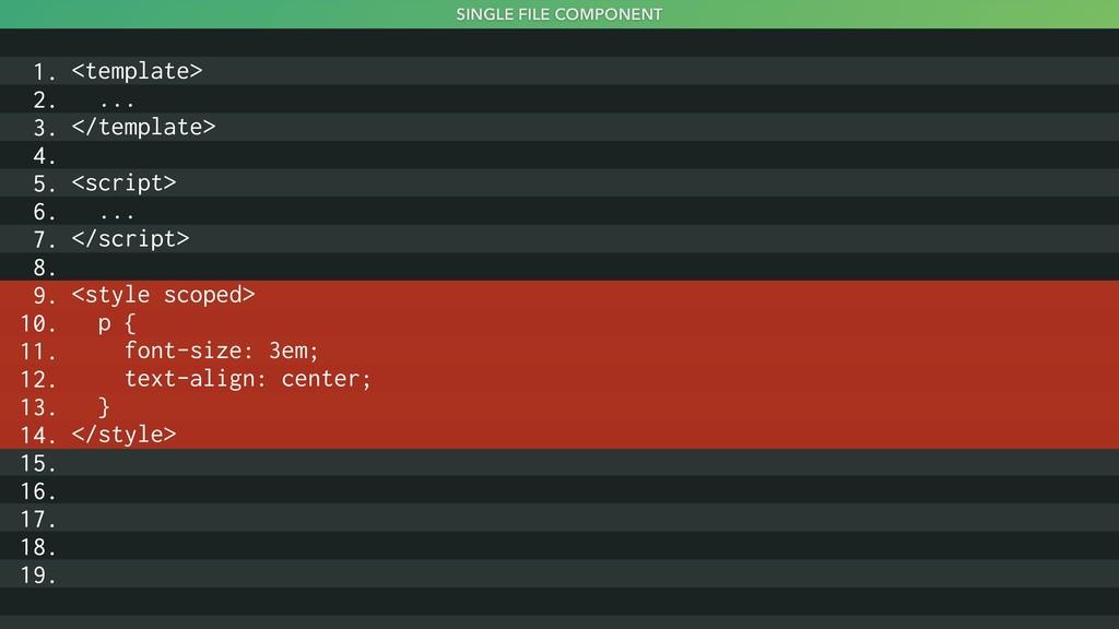 SINGLE FILE COMPONENT <template> ... </template...