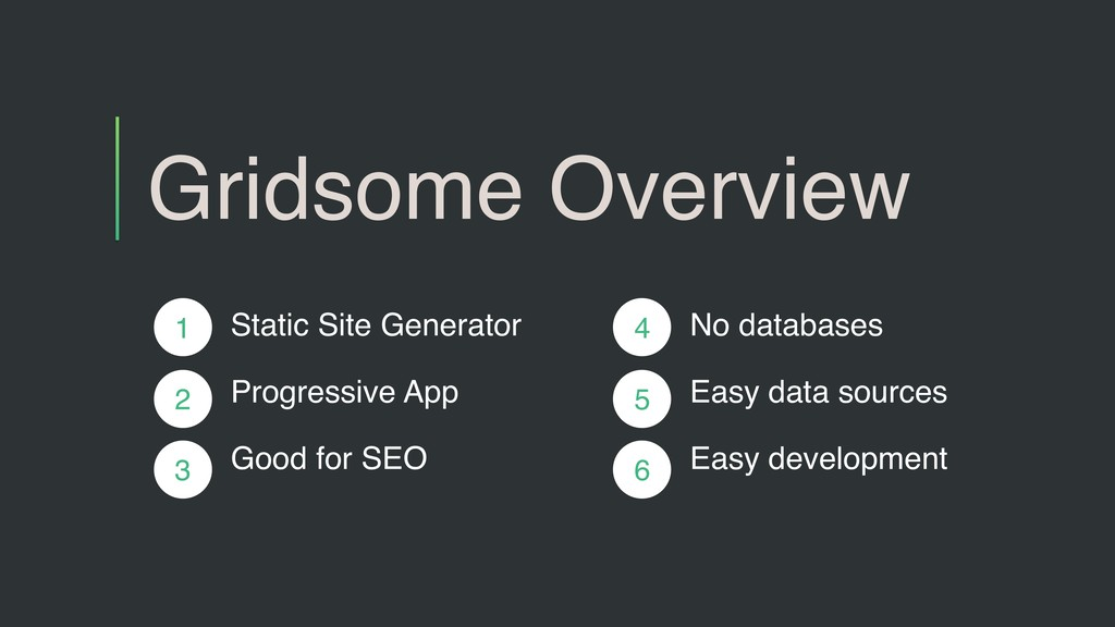 Gridsome Overview Static Site Generator Progres...