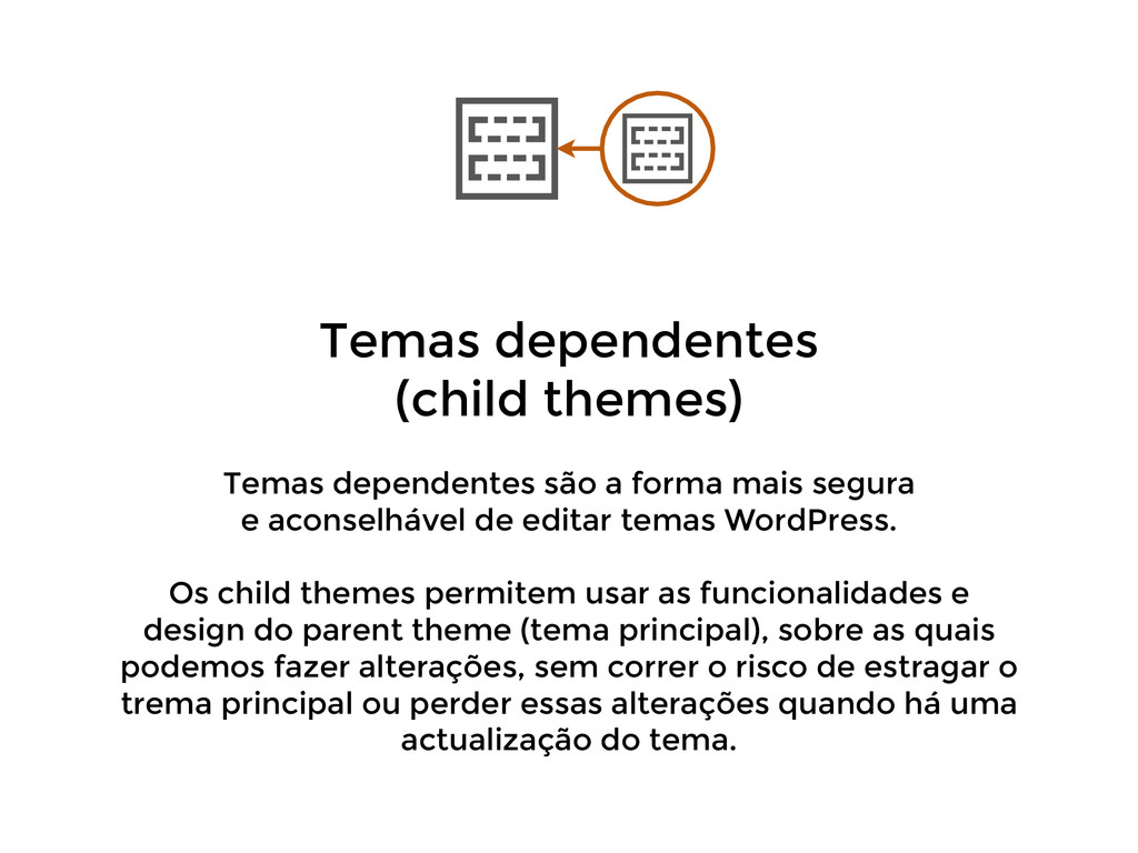 Temas dependentes (child themes) ! Temas depen...