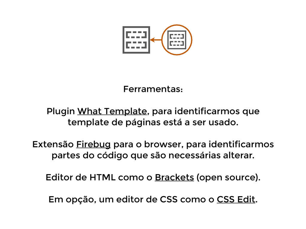 Ferramentas: ! Plugin What Template, para ident...