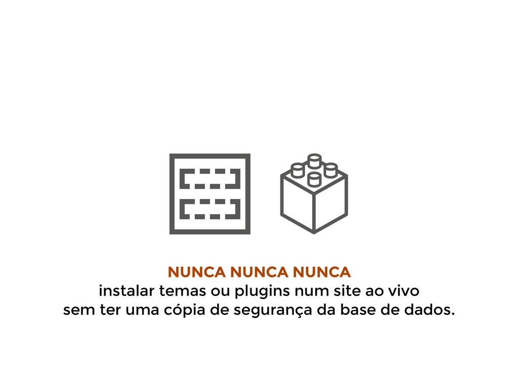 NUNCA NUNCA NUNCA instalar temas ou plugins num...