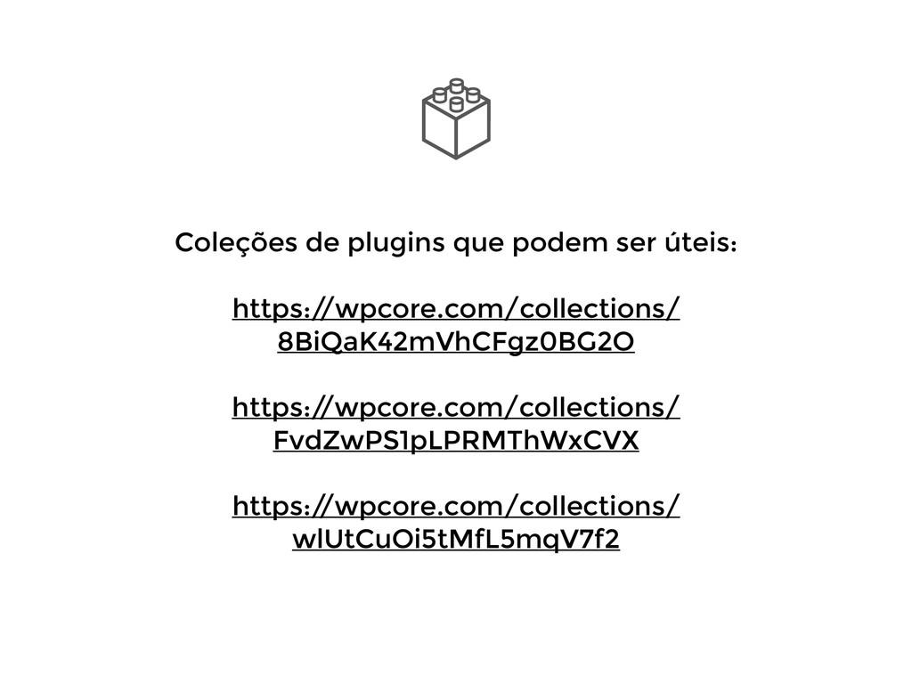 Coleções de plugins que podem ser úteis: ! http...