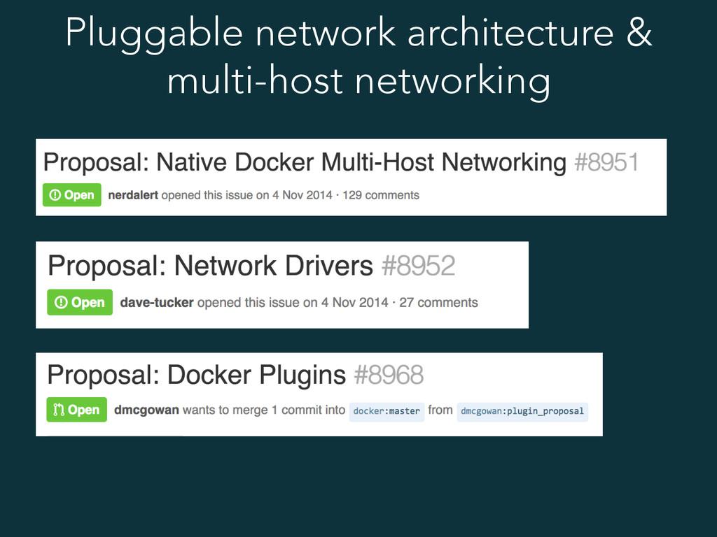 Pluggable network architecture & multi-host net...