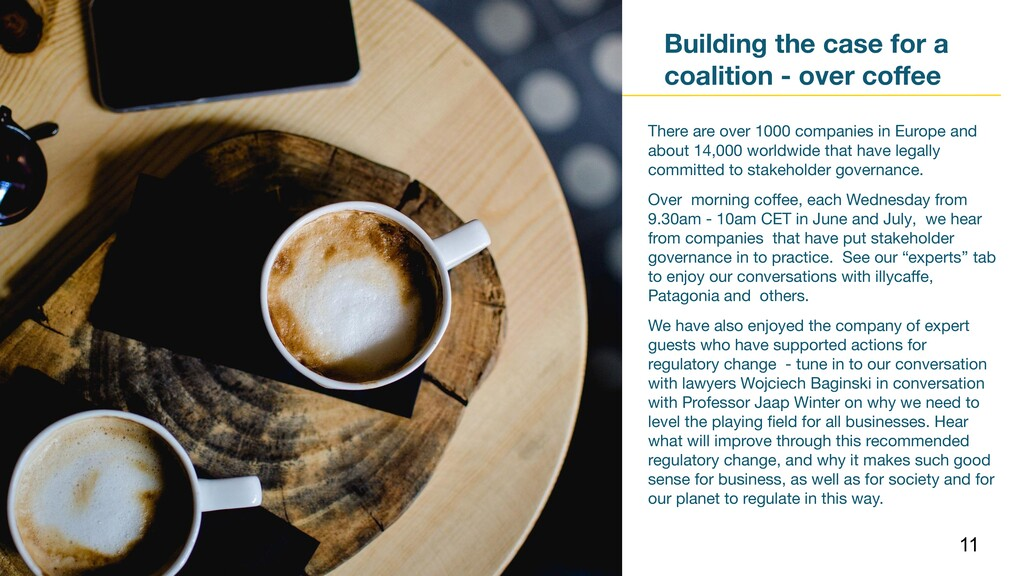 Building the case for a coalition - over coffee ...